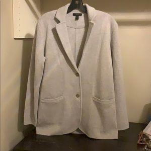 J Crew Grey Wool Knit Blazer